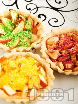 Ябълкови тарталетки със сметана - снимка на рецептата